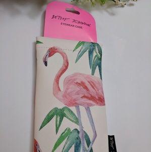 Betsey Johnson Eyewear Case Holder Flamingo